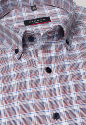 ETERNA LONG SLEEVE SHIRT MODERN FIT TWILL RED CHECKED