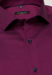 ETERNA LONG SLEEVE SHIRT MODERN FIT BURGUNDY STRUCTURED