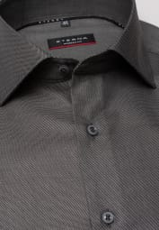 ETERNA LONG SLEEVE SHIRT MODERN FIT TWILL ANTHRACITE STRUCTURED
