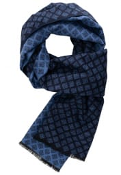 ETERNA SCARF BLUE STRUCTURED