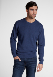 ETERNA KNIT SWEATER WITH ROUND NECK DENIM MELANGE UNI