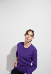 ETERNA KNIT SWEATER WITH ROUND NECK PURPLE UNI