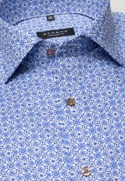 ETERNA LONG SLEEVE SHIRT COMFORT FIT OXFORD BLUE/WHITE PRINTED
