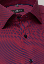 ETERNA LONG SLEEVE SHIRT COMFORT FIT KETTLANCÈ RED STRUCTURED