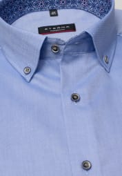 ETERNA HALF SLEEVE SHIRT MODERN FIT OXFORD BLUE UNI