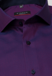 ETERNA LONG SLEEVE SHIRT MODERN FIT AUBERGINE STRUCTURED