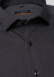 ETERNA LONG SLEEVE SHIRT SLIM FIT ANTHRACITE STRIPED