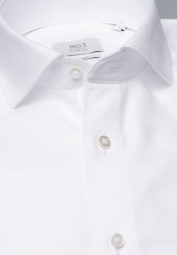 ETERNA LONG SLEEVE SHIRT SLIM FIT NEVER IRON SHIRT TWILL WHITE STRUCTURED