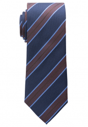ETERNA TIE BROWN / BLUE STRIPED