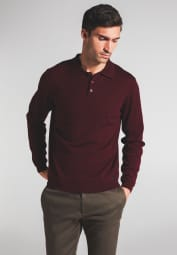 ETERNA KNIT SWEATER WITH POLO NECK BURGUNDY UNI