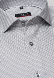 ETERNA LONG SLEEVE SHIRT MODERN FIT KETTLANCÈ SILVER GRAY STRUCTURED