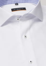 ETERNA LONG SLEEVE SHIRT SLIM FIT STRUCTURE WHITE STRUCTURED