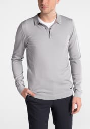 ETERNA KNIT SWEATER WITH POLO NECK SILVER GREY UNI