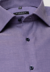 ETERNA LONG SLEEVE SHIRT COMFORT FIT NATTÉ PURPLE STRUCTURED