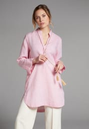 LONG SLEEVE BLOUSE 1863 BY ETERNA - PREMIUM LINEN PINK UNI