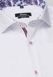 ETERNA LONG SLEEVE SHIRT SUPER-SLIM PINPOINT WHITE UNI