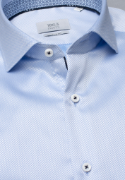 ETERNA LONG SLEEVE SHIRT SLIM FIT LIGHT BLUE STRUCTURED