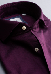 ETERNA LONG SLEEVE SHIRT MODERN FIT SOFT TAILORING TWILL BURGUNDY UNI