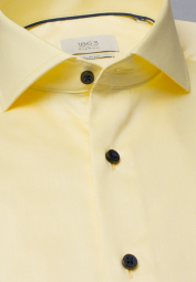 ETERNA LONG SLEEVE SHIRT SLIM FIT GENTLE SHIRT TWILL PALE YELLOW UNI