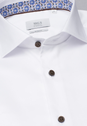 ETERNA LONG SLEEVE SHIRT SLIM FIT GENTLE SHIRT TWILL WHITE UNI