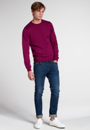 ETERNA KNIT SWEATER WITH ROUND NECK RED PLUM UNI