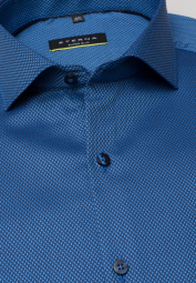 ETERNA LONG SLEEVE SHIRT SUPER-SLIM BLUE STRUCTURED
