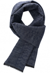 ETERNA SCARF NAVY CHECKED