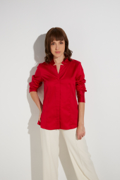 ETERNA LONG SLEEVE BLOUSE MODERN CLASSIC RED UNI