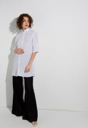 ETERNA HALF SLEEVE SHIRTDRESS MODERN CLASSIC WHITE UNI
