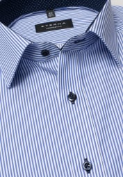 ETERNA LONG SLEEVE SHIRT COMFORT FIT TWILL BLUE STRIPED