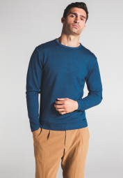ETERNA KNIT SWEATER WITH ROUND NECK TURQUOISE UNI