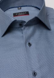 ETERNA LONG SLEEVE SHIRT MODERN FIT TWILL GRAY STRUCTURED
