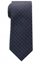 ETERNA TIE BROWN / BLUE PATTERNED