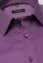 ETERNA LONG SLEEVE SHIRT COMFORT FIT TWILL BURGUNDY STRUCTURED