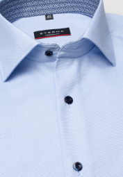 ETERNA HALF SLEEVE SHIRT MODERN FIT LIGHT BLUE STRUCTURED