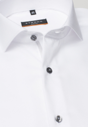 ETERNA LONG SLEEVE SHIRT SLIM FIT FANCY WEAVE WHITE STRUCTURED