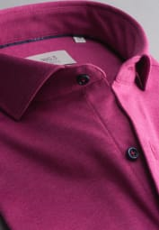 ETERNA LONG SLEEVE SHIRT SLIM FIT SOFT TAILORING JERSEY PURPLE UNI