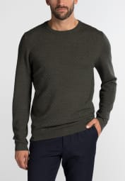 ETERNA KNIT SWEATER WITH ROUND NECK KHAKI UNI