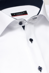 ETERNA LONG SLEEVE SHIRT MODERN FIT PINPOINT WHITE UNI