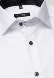 ETERNA LONG SLEEVE SHIRT COMFORT FIT WHITE STRUCTURED
