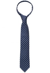ETERNA TIE DARK BLUE PATTERNED