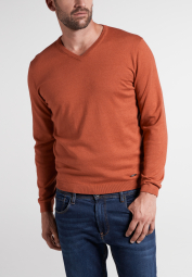 ETERNA KNIT SWEATER WITH V-NECK RUST RED UNI