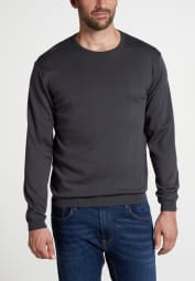 ETERNA KNIT SWEATER WITH ROUND NECK GREY UNI