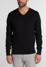 ETERNA KNIT SWEATER WITH V-NECK BLACK UNI