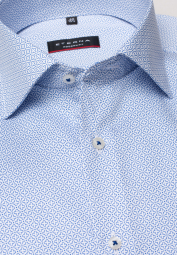 ETERNA LONG SLEEVE SHIRT MODERN FIT TWILL BLUE/WHITE PRINTED