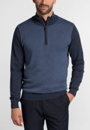 ETERNA KNIT TROYER JEANS BLUE / NAVY UNI