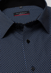 ETERNA LONG SLEEVE SHIRT MODERN FIT POPLIN BLUE/WHITE PRINTED