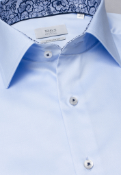 ETERNA LONG SLEEVE SHIRT COMFORT FIT GENTLE SHIRT TWILL LIGHT BLUE UNI