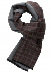ETERNA SCARF BROWN CHECKED
