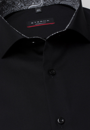 ETERNA LONG SLEEVE SHIRT MODERN FIT PINPOINT ANTHRACITE UNI